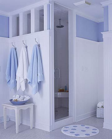 Shower with Partial Walls