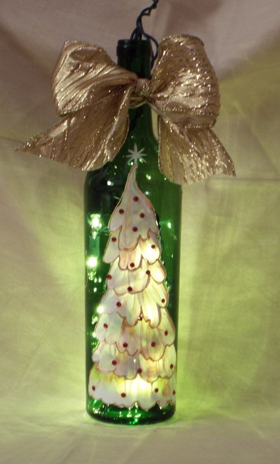 Hand Painted Christmas Tree On Green By Prettypaintedpieces Things