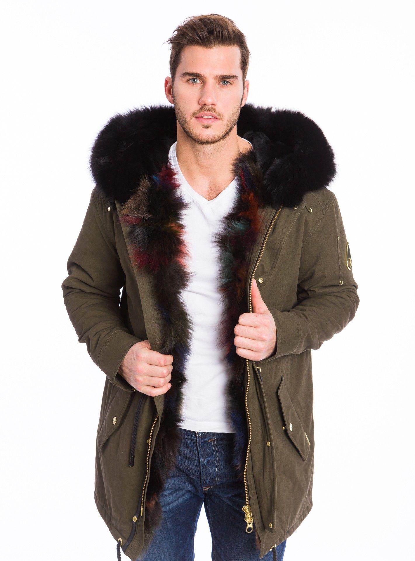 2cfc37ee3 Moose Knuckles - Steller Canvas Parka - Multi Fox Fur Revival Clothing, Mens  Fur,
