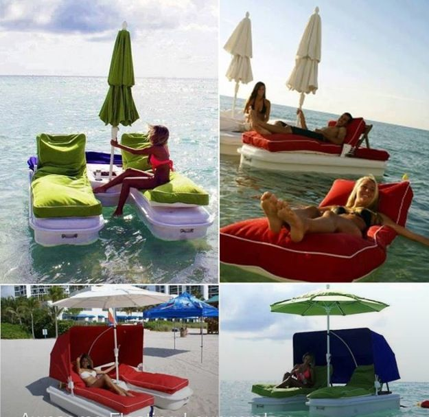 Amazing Invention A Floatable Lounge Chair