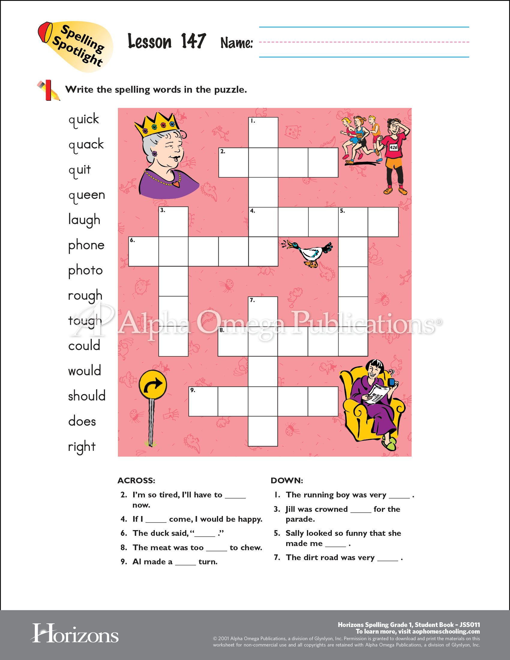 worksheet Curriculum Worksheet download and print this curriculum worksheet sample page from alpha omega publications horizons spelling