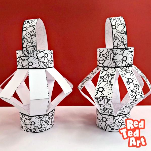 Easy Poppy Paper Lanterns for Remembrance Day #remembrancedaycraftsforkids