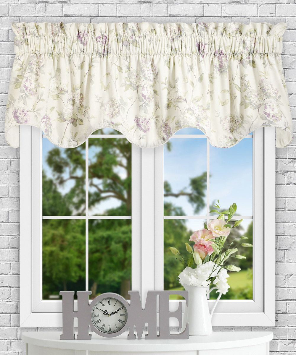 Look at this Lilac Abigail Lined Scallop Valance on #zulily today!