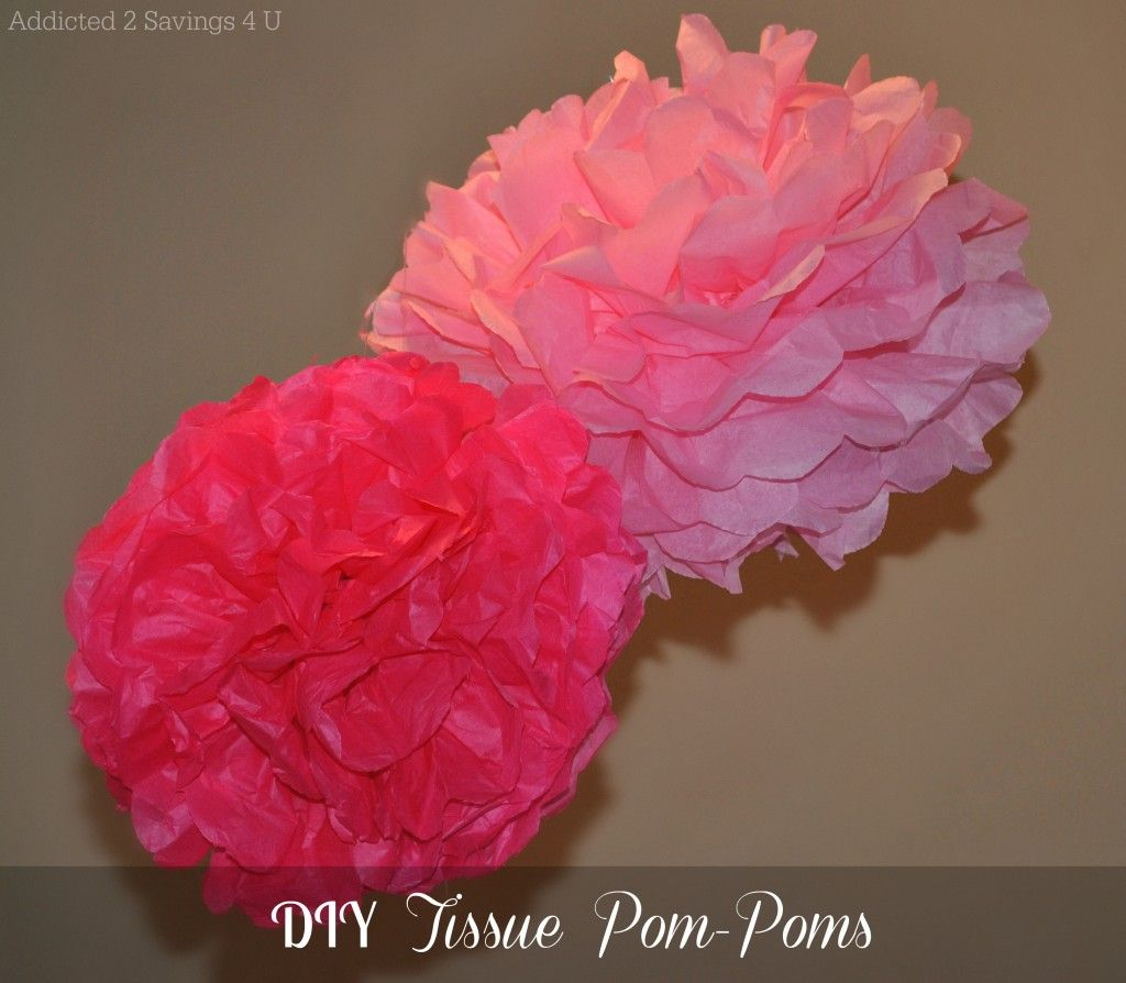 Diy paper flower wedding decorations  DIY Tissue PomPoms with step by step instructions Perfect for any