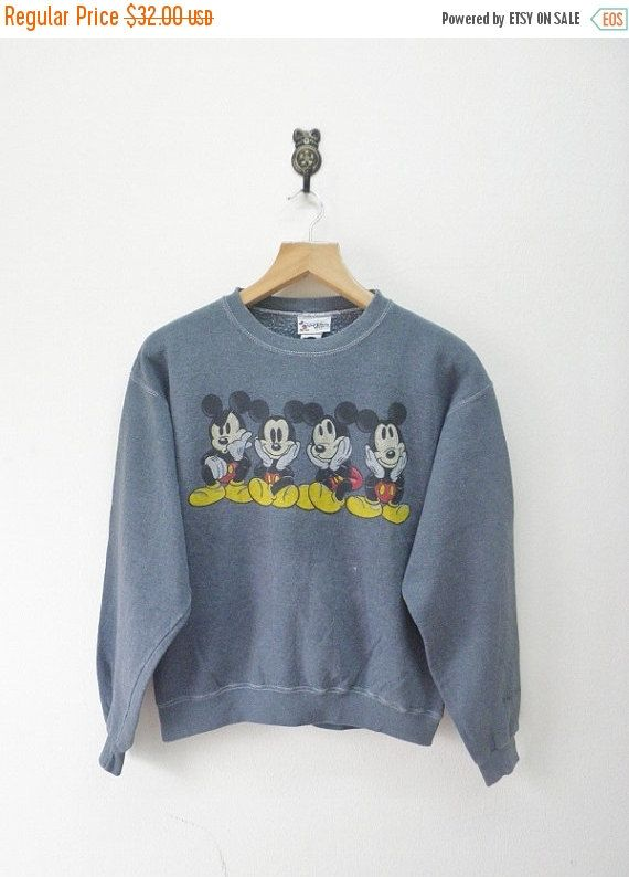 ON SALE 15% Vintage 90's Mickey Mouse Disney by RetroFlexClothing