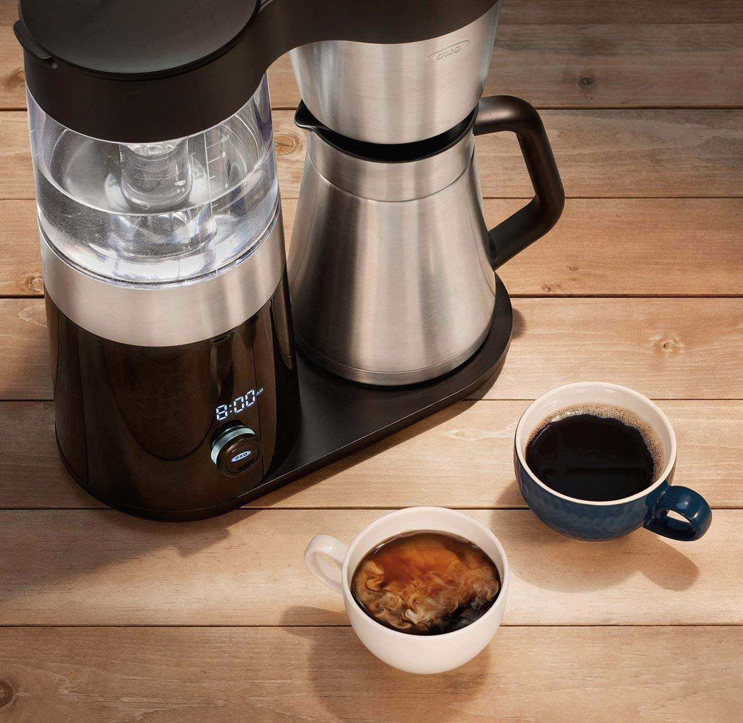 Oxo barista brain cup coffee maker with ounce silver canyon