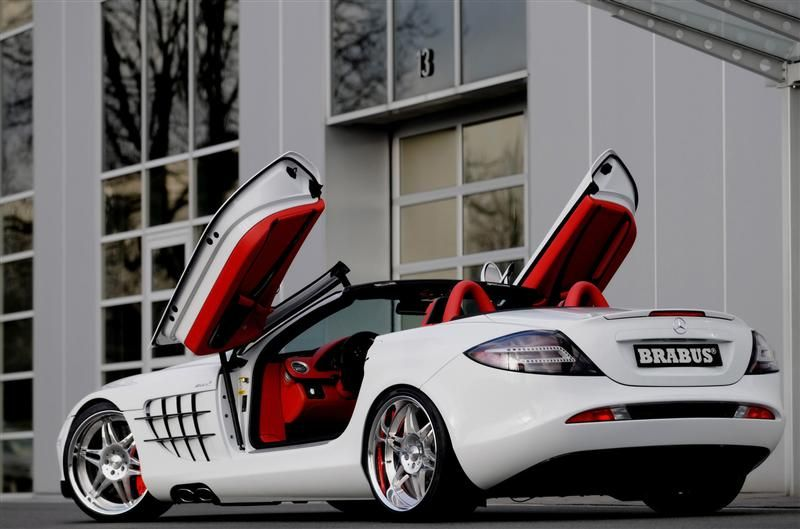 Mercedes Mclaren Slr The Red Interior Sets It Off Carros Auto Motos