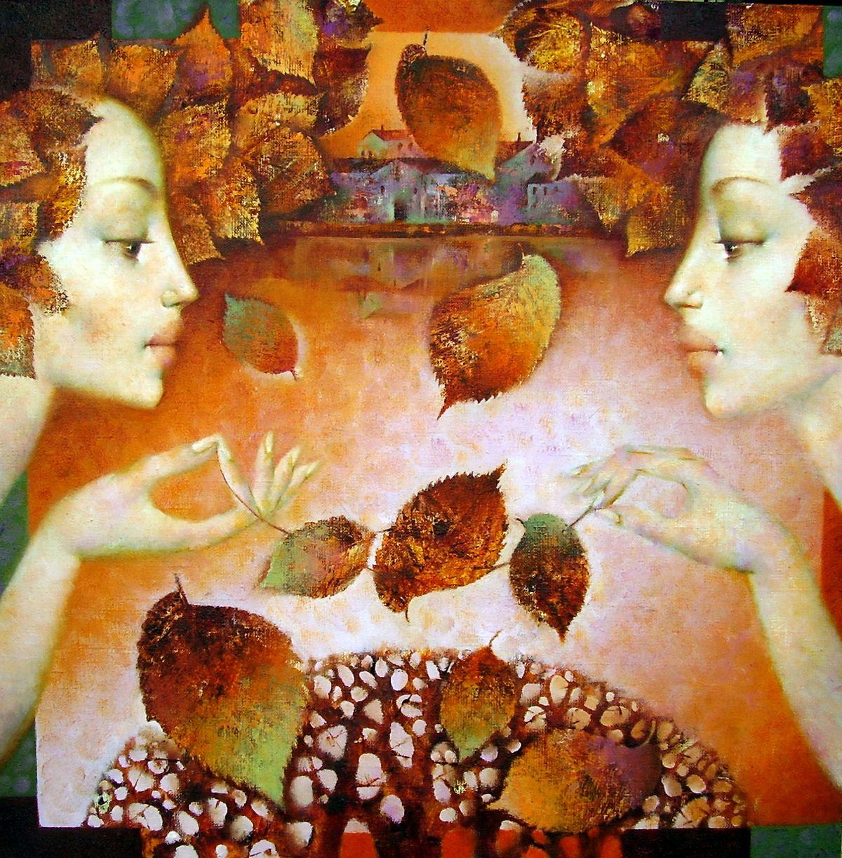 Pin van Nadir Novell op Twins | Seizoenen, Herfst, Impressionisme