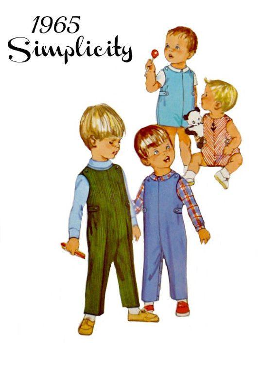 Infant Baby Longalls Jon Jons Jumper Overalls Shirts 60s Vintage ...