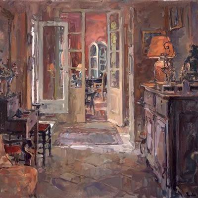 Susan Ryder, RP NEAC (English) 'Interior, Rue Emile Zola'