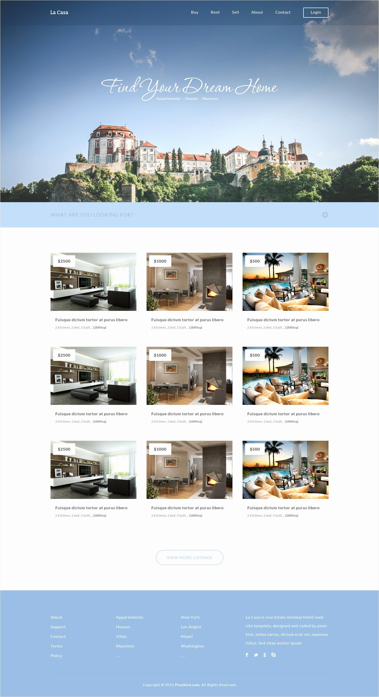 Free Real Estate Templates Unique La Casa Free Real Estate Fully Responsive Html5 Css3 Real Estate Templates Real Estate Website Templates Real Estate