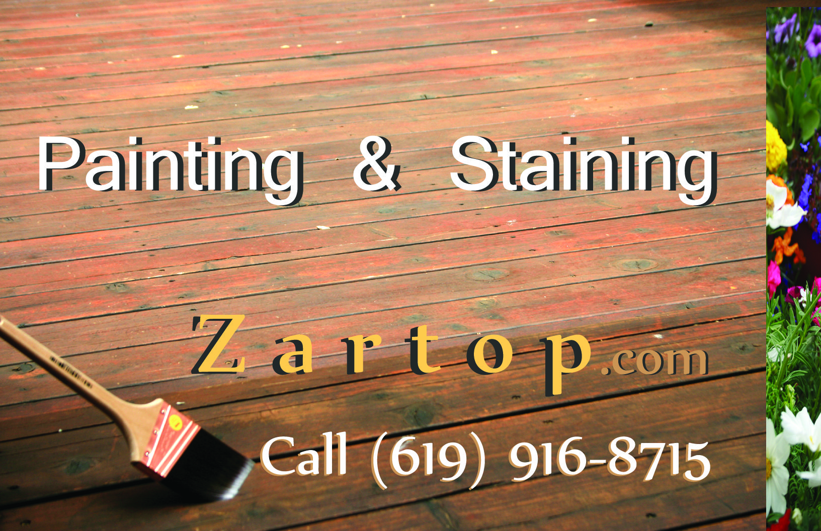 Porch and decking staining and painting. San Diego, California