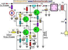 60 watt guitar amplifier circuit project op amps. Black Bedroom Furniture Sets. Home Design Ideas