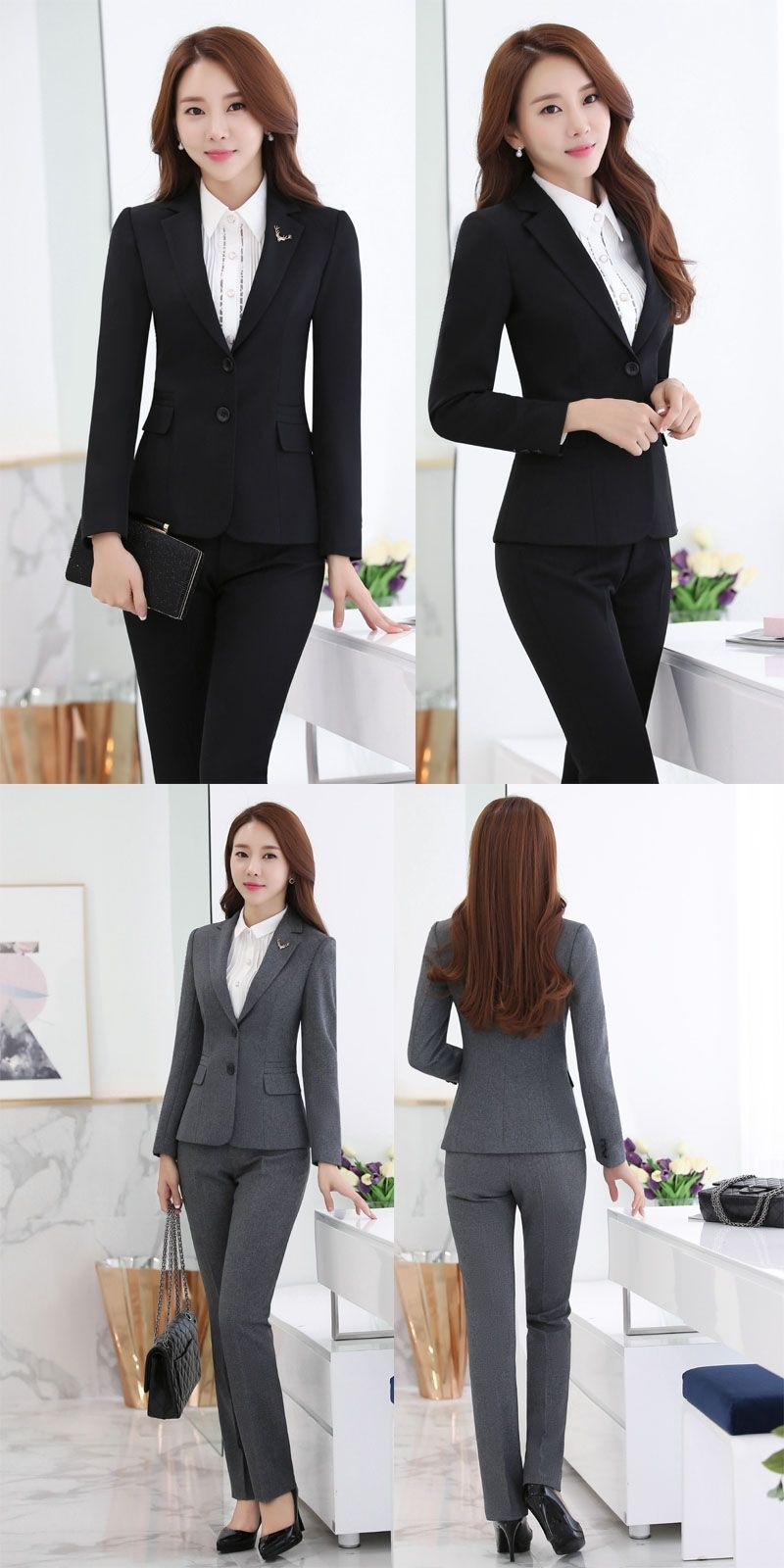 aaa19f99d New 2015 Feminino Professional Business Work Wear Suits Blazer And ...