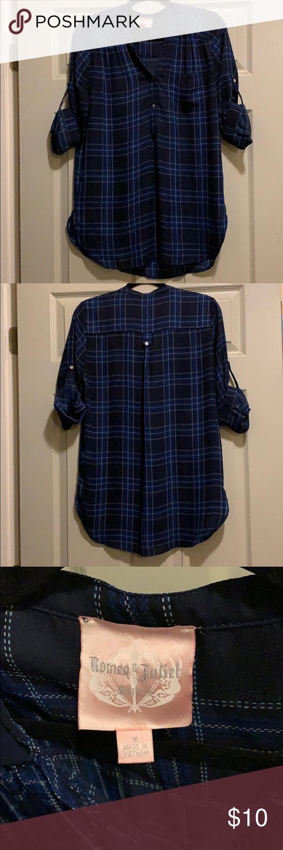 cc17f55f52b Flannel Tunic Blouse *Gently used. Minor flaws see last 2 photos. *Tunic