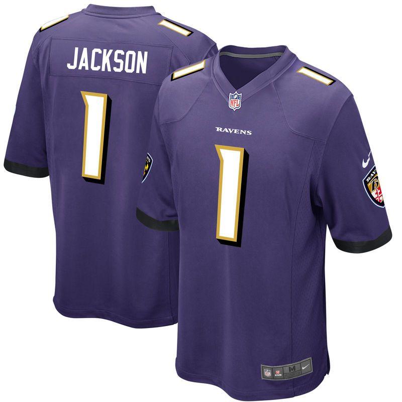 Men s Nike Lamar Jackson Purple Baltimore Ravens 2018 NFL Draft First Round  Pick  2 Game Jersey 510c90363