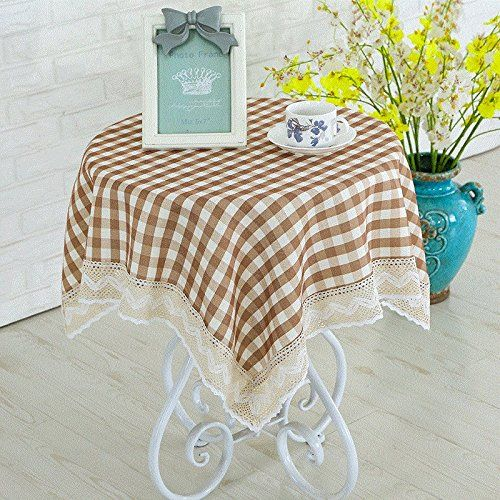 ZnzbztPark Small Round Table Cloths, Round Square Coffee Table Cloth Round Table  Cloth Dining