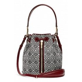 Cynnie Mini Basket Woven Bucket Bag