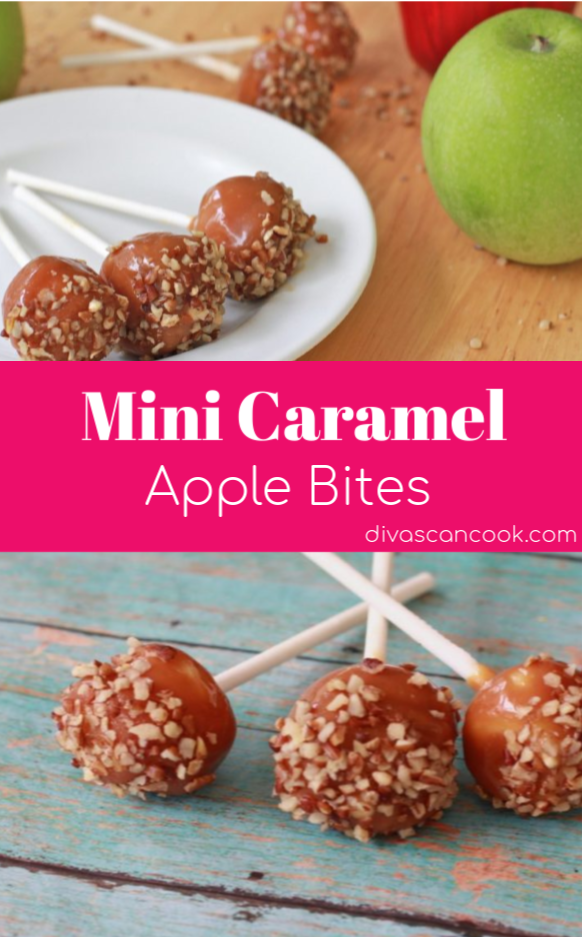 Mini Caramel Apple #caramelapples