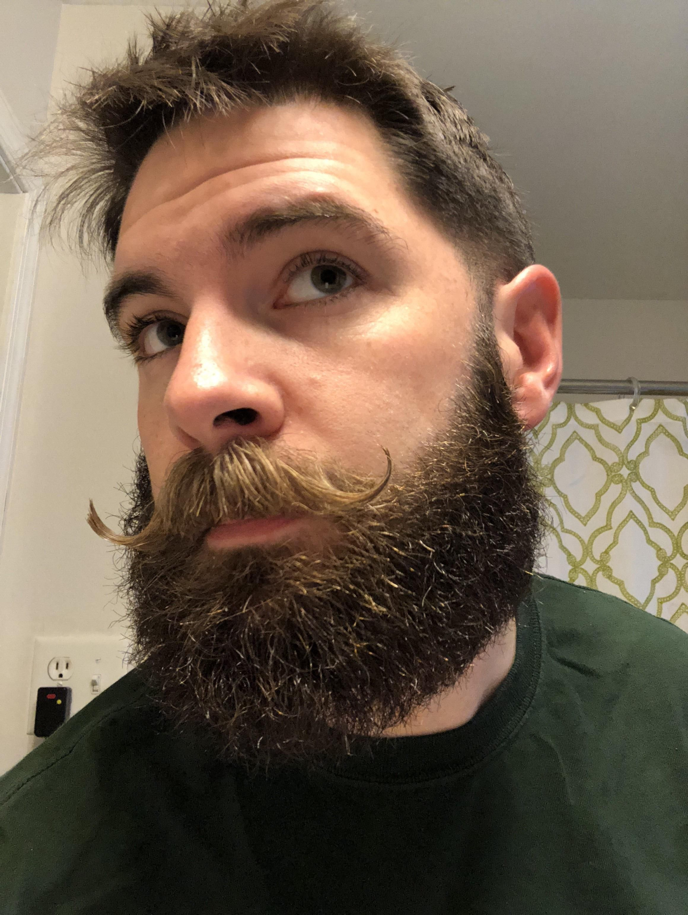Blowout With Beard : blowout, beard, Getting, Things, Blowout, Curls, Beard, Mustache,, Styles,