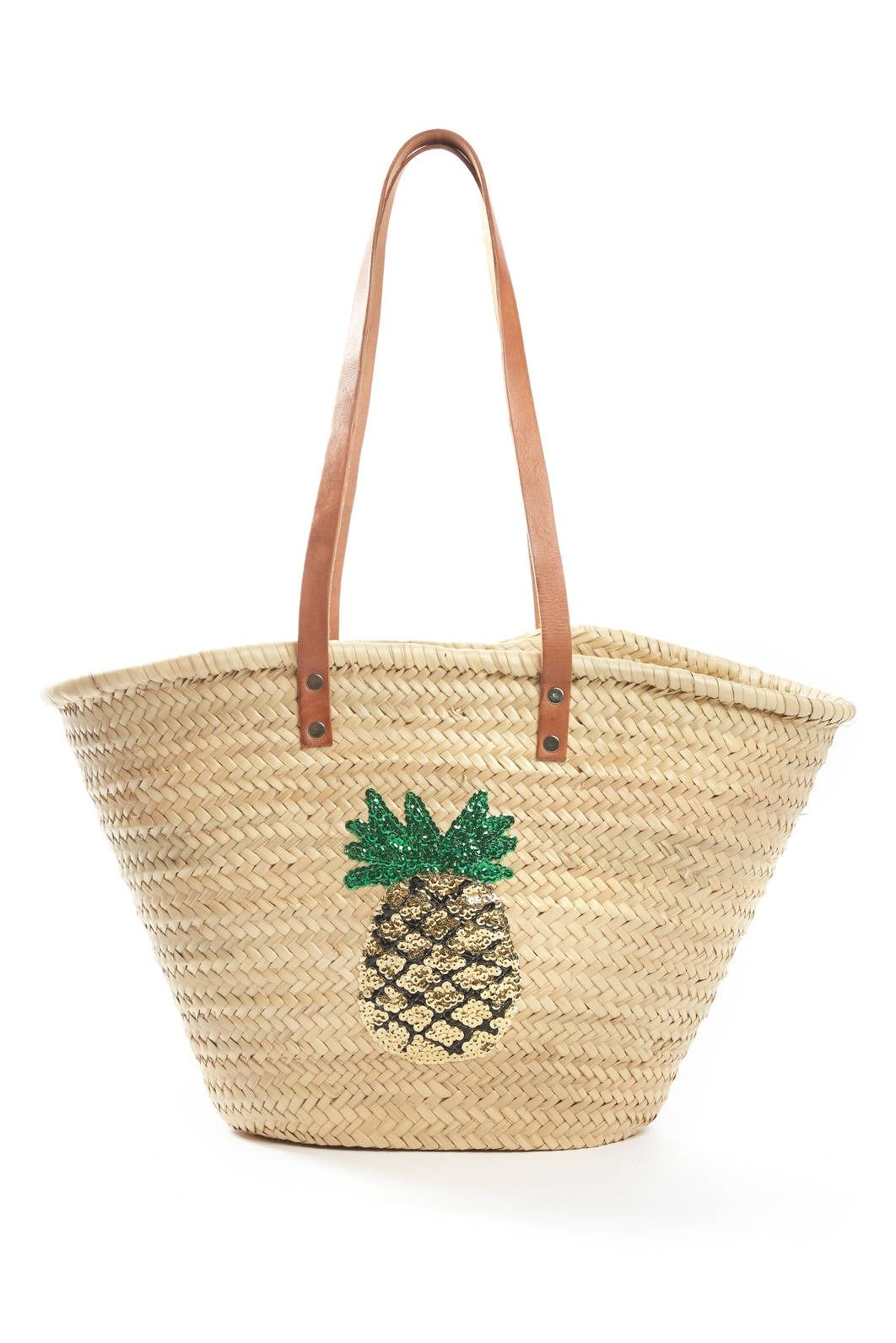 3e4720c2400fa0 St. Honore Pineapple Sequins Straw Bag   South Moon Under   My kind ...