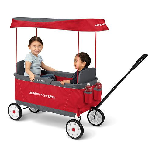 Head Out For A Day Of Fun With The Radio Flyer Ultimate Ez Fold Wagon For Baby S First Birthday Which Features Room To Radio Flyer Folding Wagon Kids Ride On