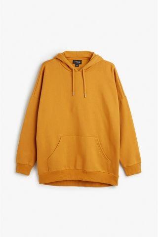 42e26864afb Monki Image 2 of Oversize hoodie in Yellow Reddish Dark