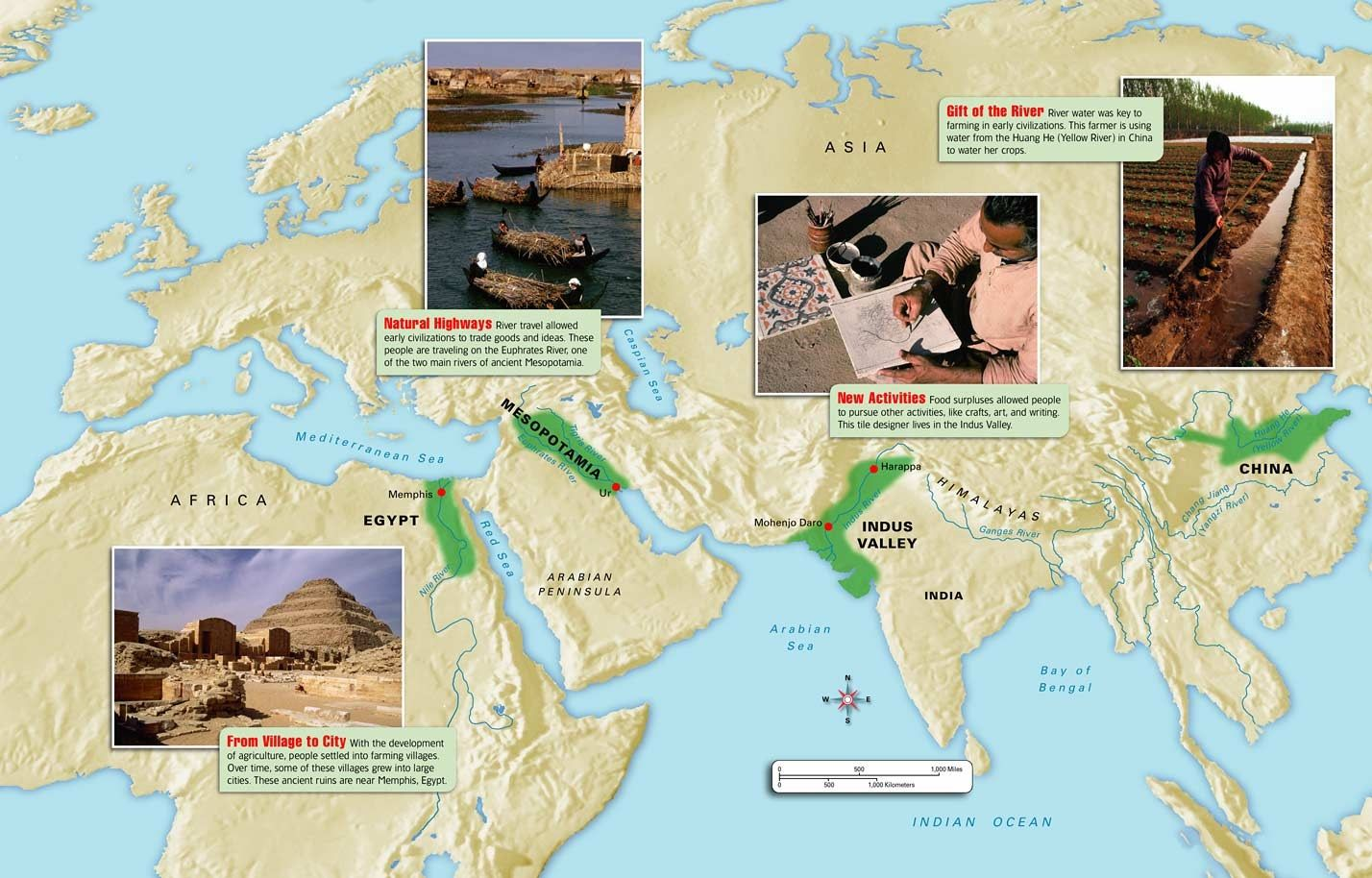 The Earliest Civilizations Emerged In A Egypt Along The Nile River Valley At About 3 000 Bce B In The Indus River Valley In What Is Now Modern Day India Pak