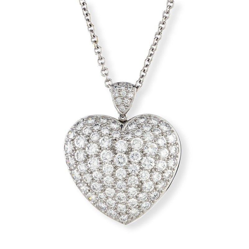 Platinum diamond heart pendant suna designer jewelry diamond platinum diamond heart pendant mozeypictures Images