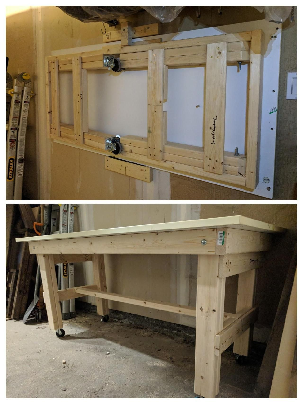 Simple Folding And Portable Workbench By Squirrelyfox At Https