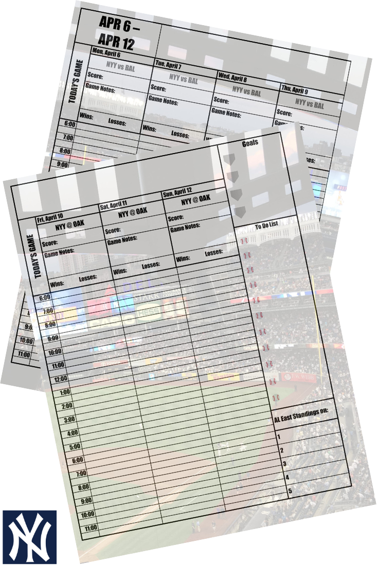 It's just a graphic of Fabulous Yankees 2020 Printable Schedule