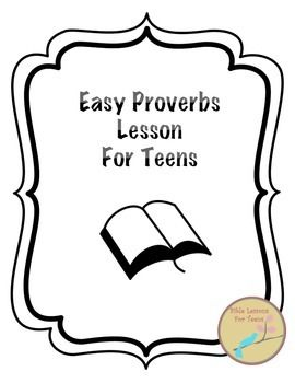Do you need a low prep and easy Proverbs lesson for your