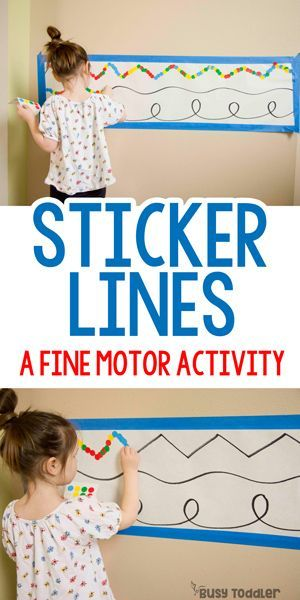 Sticker Lines: Fine Motor Activity - Busy Toddler