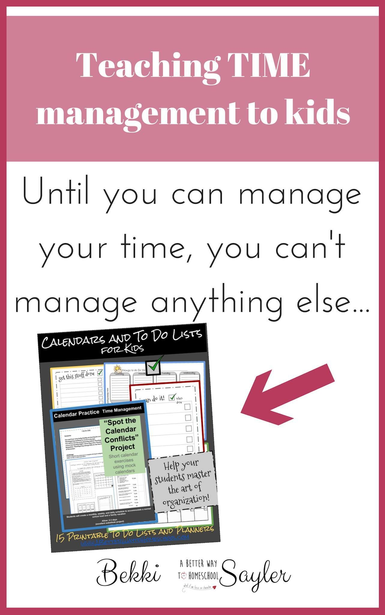 Life Skills For Kids Time Management Is A Practical Life