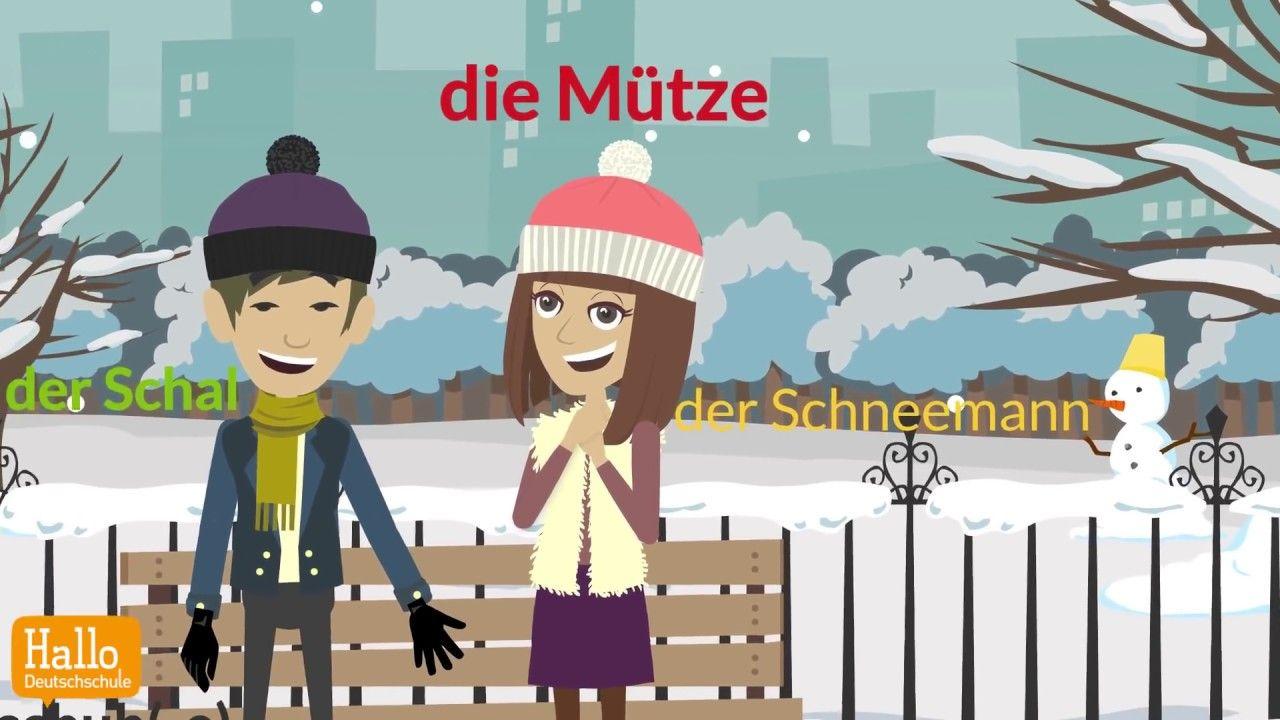 Wortschatz Winter / Learn German for free