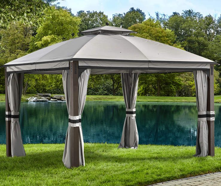 Shadow Creek Gazebo 10 X 12 At Big Lots Gazebo Backyard Gazebo Big Lots