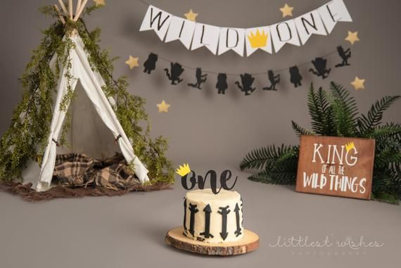 Wild One Banner, Where The Wild Things Are Inspired Banner, One Banner, First Birthday, Photo Prop #babyboy1stbirthdayparty