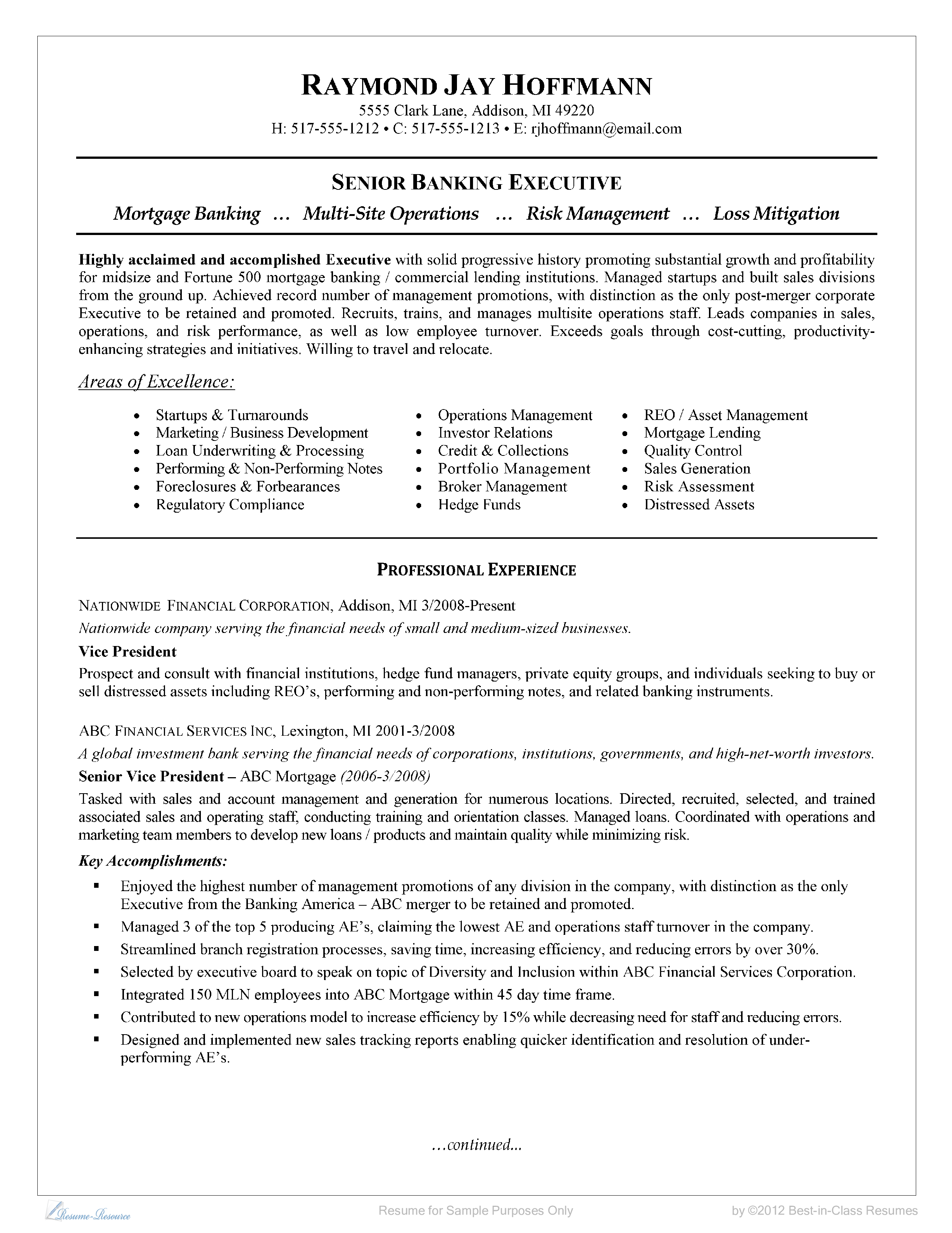 Bank Sales Executive Resume Senior Banking Executive Resume How To Grab Your Futures