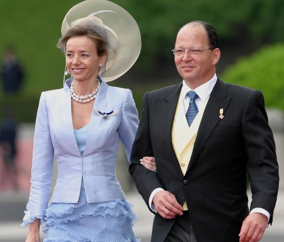 Principe Kardam de Bulgaria y Miriam Ungría en la boda de Don Felipe y Doña Sofía (Gtres)