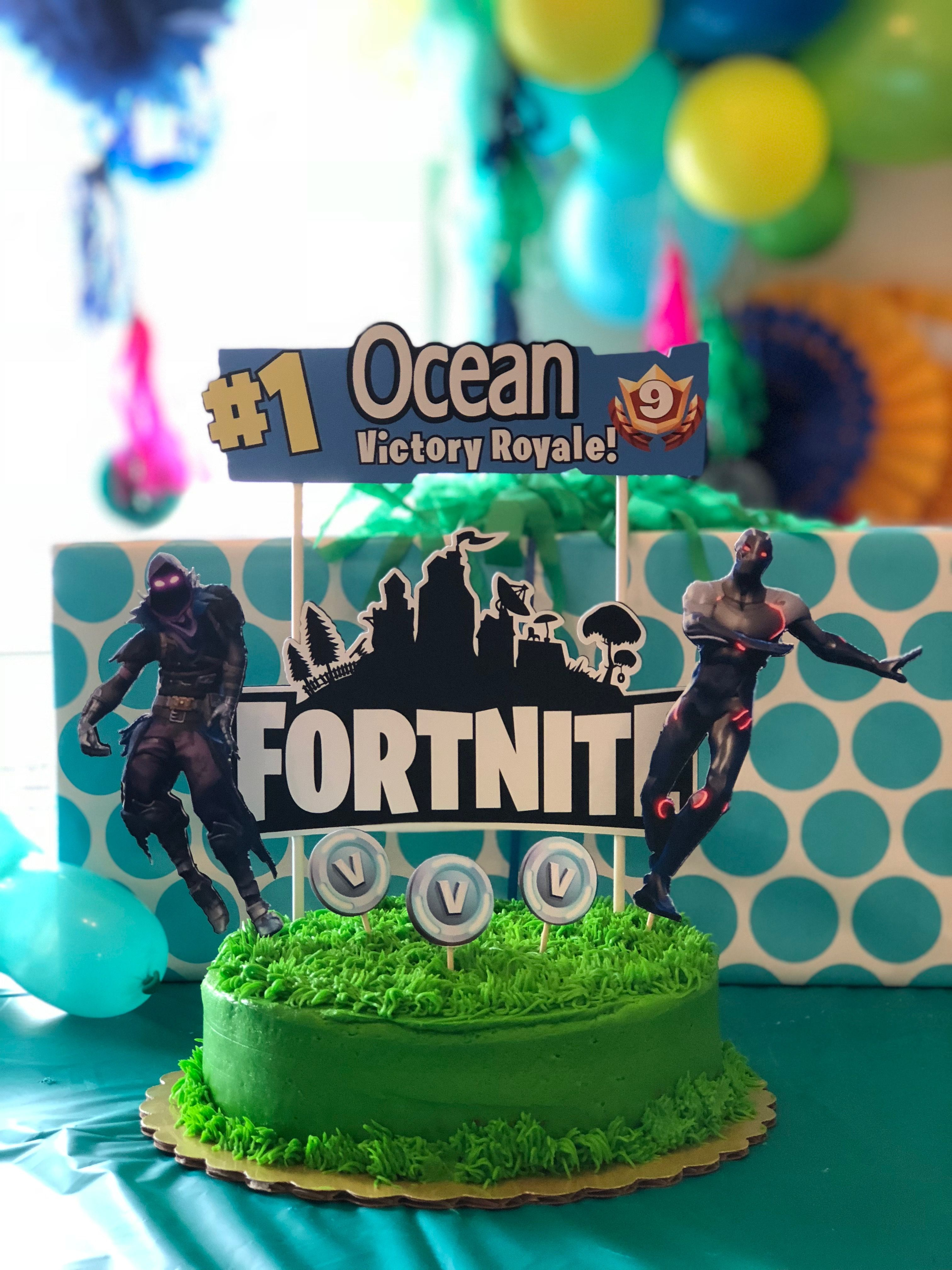 Fortnite Birthday Cake Toppers From Samandpaper Off Etsy With