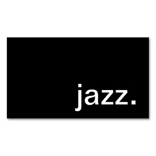 Jazz Business Card. Make your own business card with this great design. All you need is to add your info to this template. Click the image to try it out!