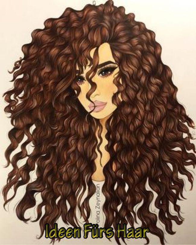 Haarfarbe Haarfarbe In 2020 Curly Hair Drawing Black Girl Art Hair Art