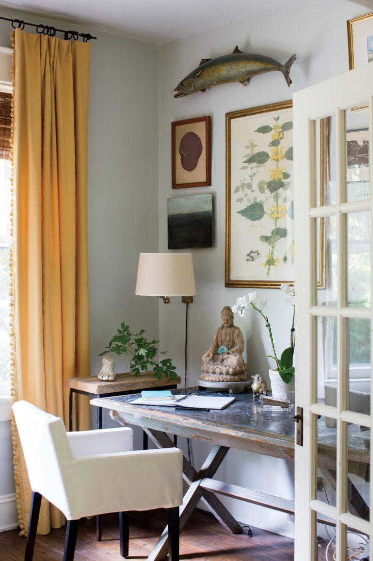 cottage office. Step Inside This Southern Cottage Office