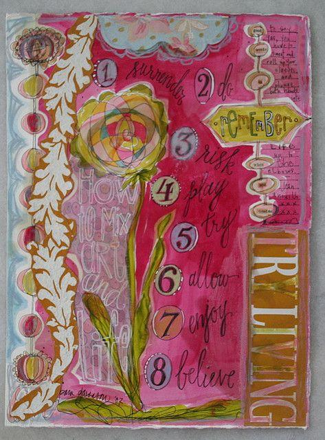 Art journal inspiration: by pam garrison, via Flickr