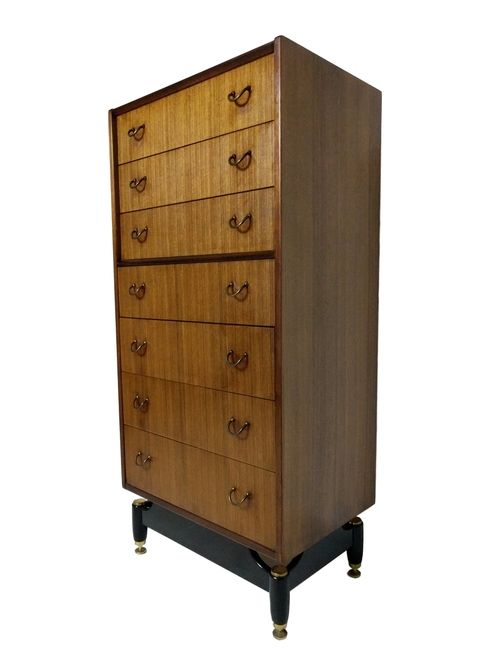 Best Tall Elegant Mid Century Modern 7 Drawer Tola Highboy 400 x 300
