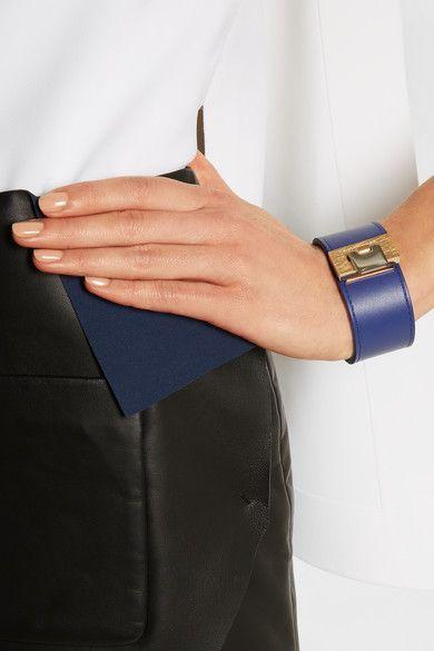 Balenciaga Le Dix Leather Gold Tone Bracelet