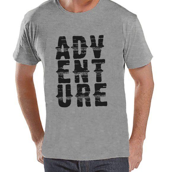 Mens Camping Shirt  Adventure Shirt  Mens Grey T-shirt    Etsy