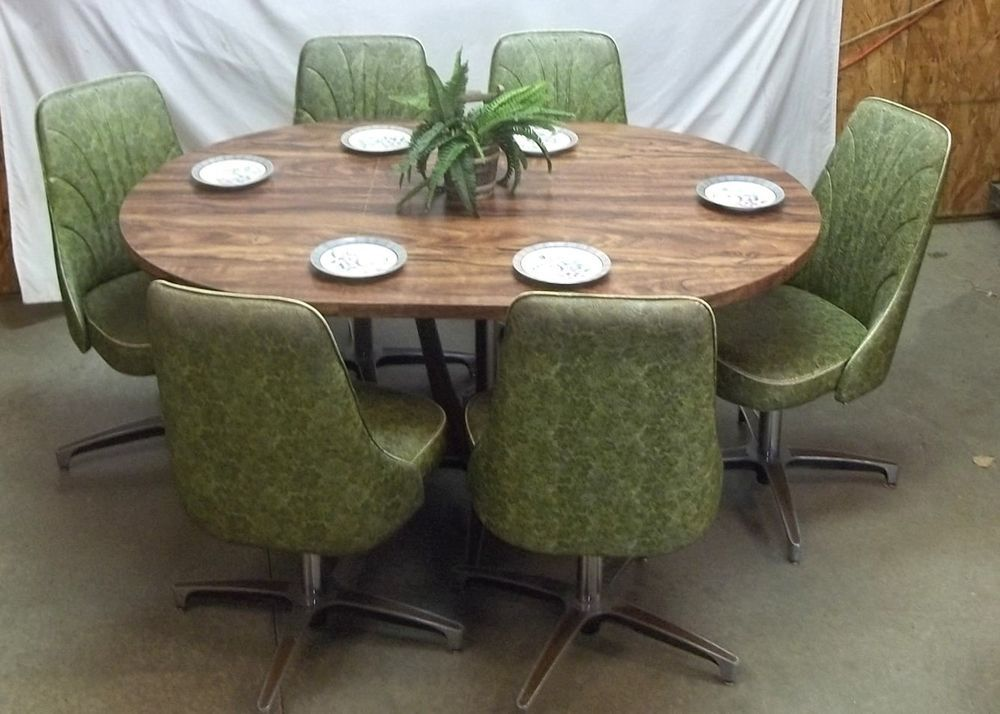 Perfect Chromcraft Table 6 Chairs Mid Century 60s 70s Green Dining Room Dinette  Kitchen | Antiques, Furniture, Dining Sets | EBay!