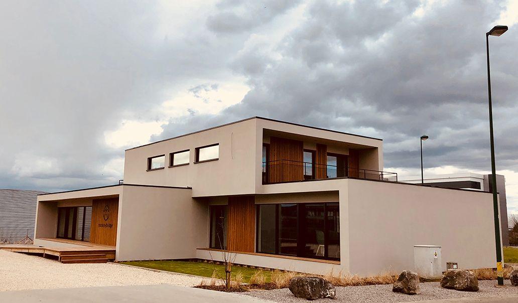Bureau bois design de 418 m² by popup house en belgique part 2
