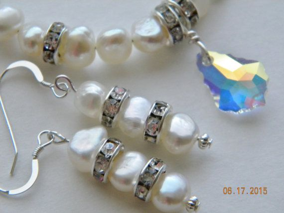 Bridal Pearls and Crystals in by SantaFeCollection on Etsy